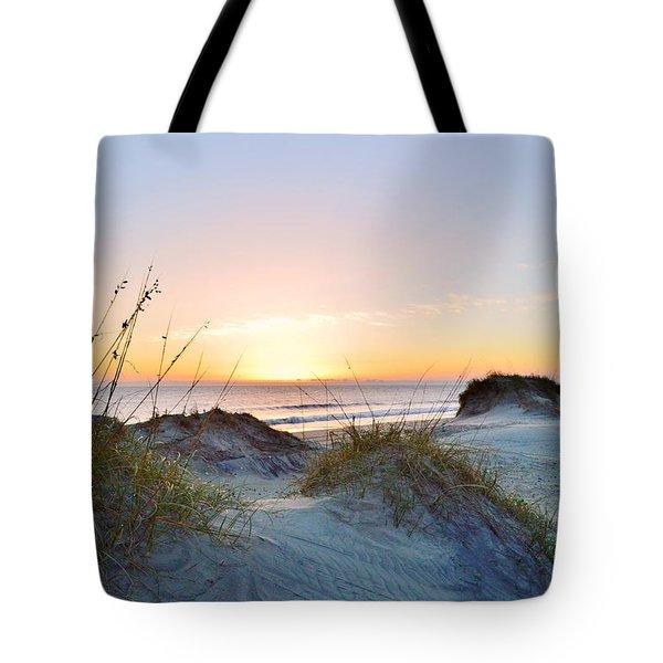 Pea Island Sunrise 12/28/16 Tote Bag