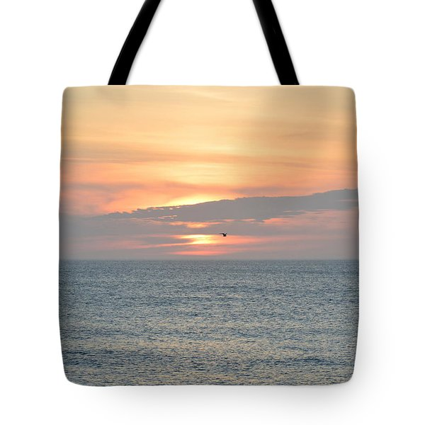 Tote Bag featuring the photograph Pea Island Sunrise by Barbara Ann Bell