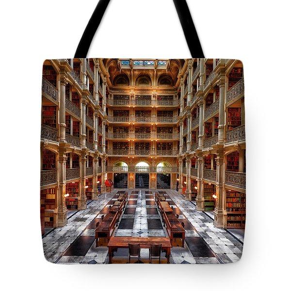 Peabody Library - Johns Hopkins University Tote Bag