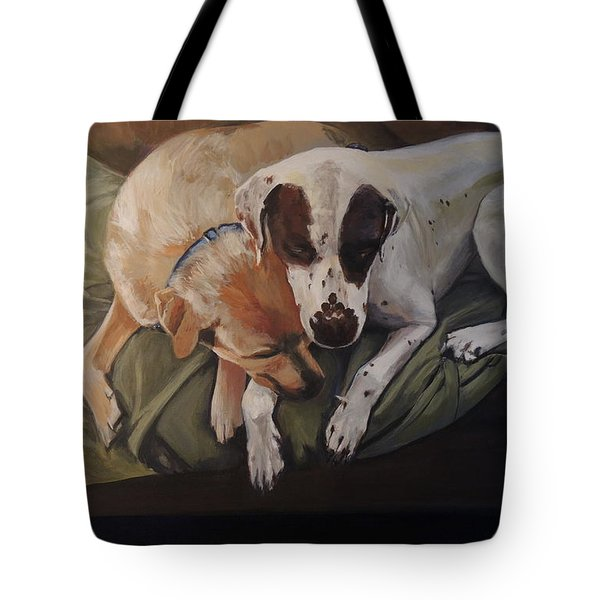 Peace And Comfort Tote Bag by Chrissey Dittus