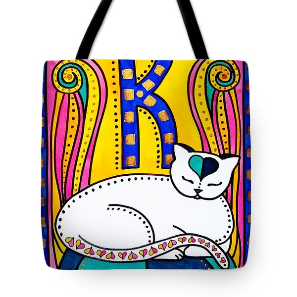 Peace And Love - Cat Art By Dora Hathazi Mendes Tote Bag