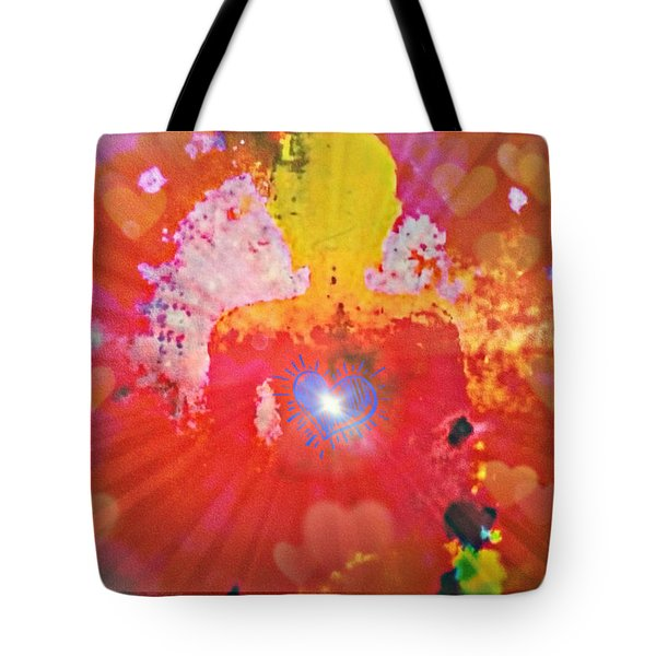 Peace And Love Meditation Tote Bag