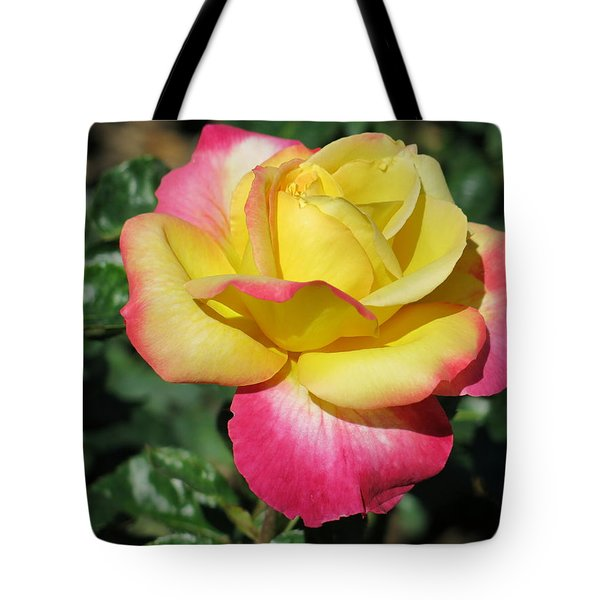 Peace And Love Rose Tote Bag