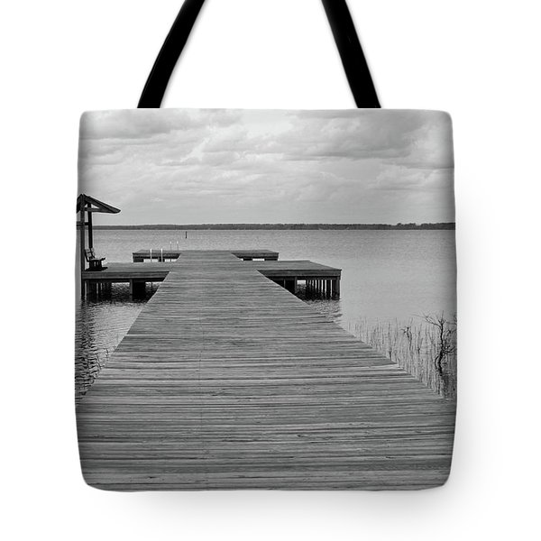 Peace And Serenity II-black And White Tote Bag