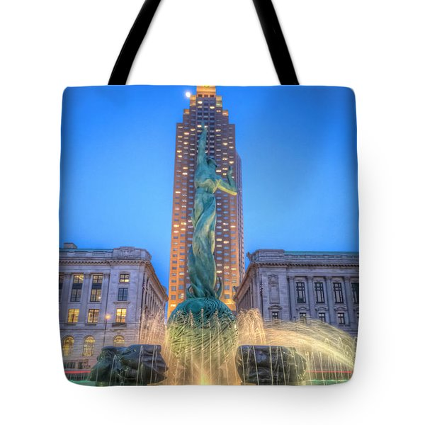 Peace Arising From The Flames Of War Tote Bag