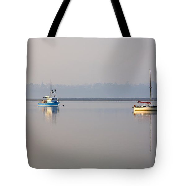 Peace At Anchor Tote Bag by Mike  Dawson