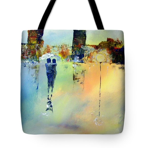 Tote Bag featuring the painting Peace At Twilight by Raymond Doward