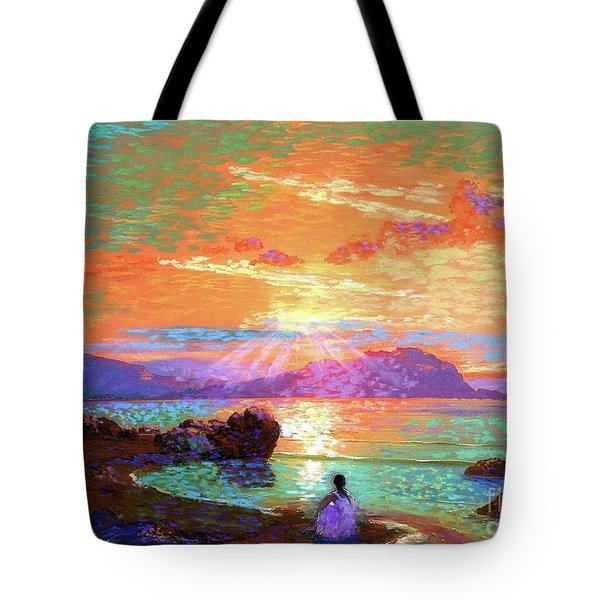 Peace Be Still Meditation Tote Bag