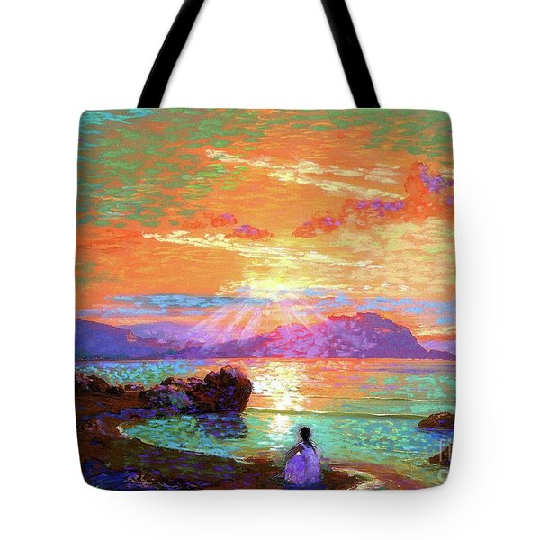 Peace Be Still Meditation Tote Bag