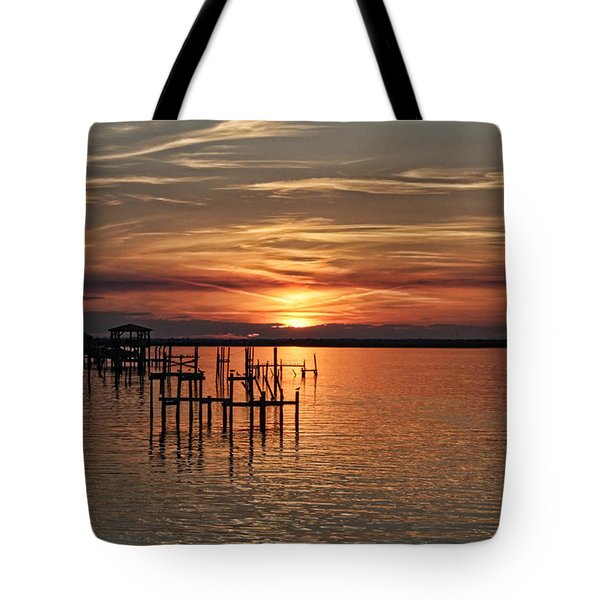 Peace Be With You Sunset Tote Bag