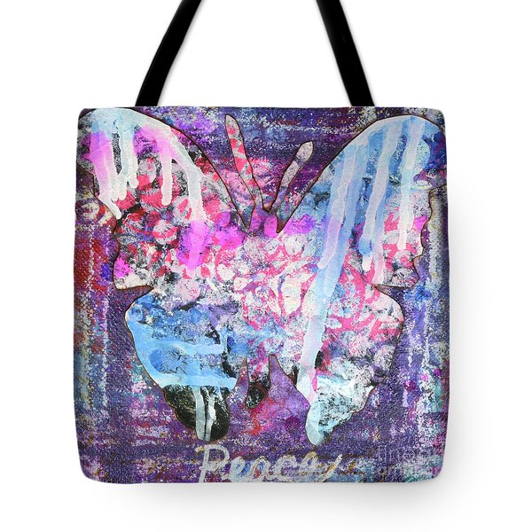Peace Butterfly Tote Bag