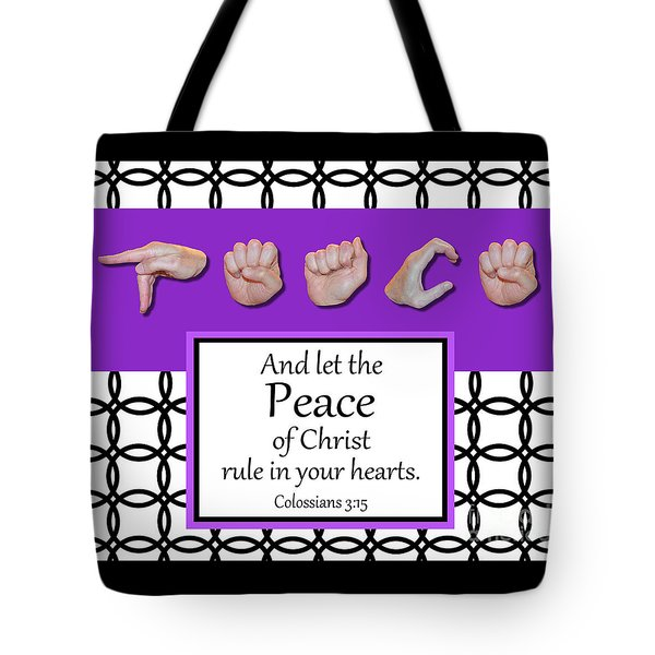 Peace - Bw Graphic Tote Bag
