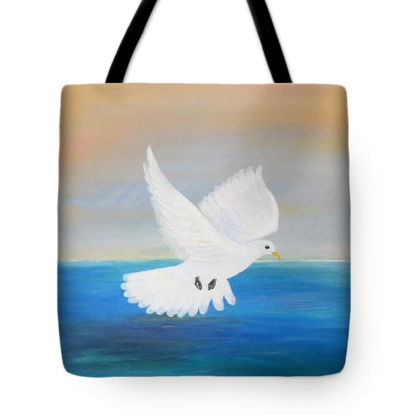 Peace Descending Tote Bag