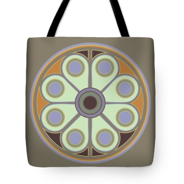 Peace Flower Circle Tote Bag