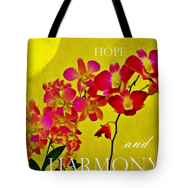 Tote Bag featuring the photograph Peace Hope And Harmony by Patricia Strand