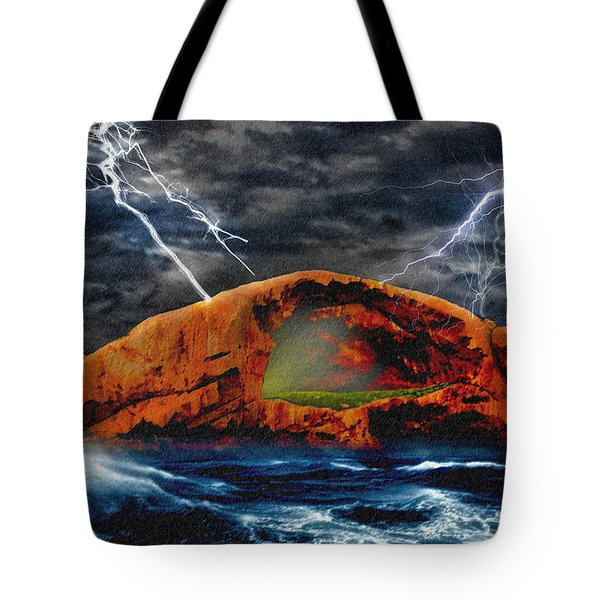 Peace In The Cleft In The Midst Of The Storm Tote Bag