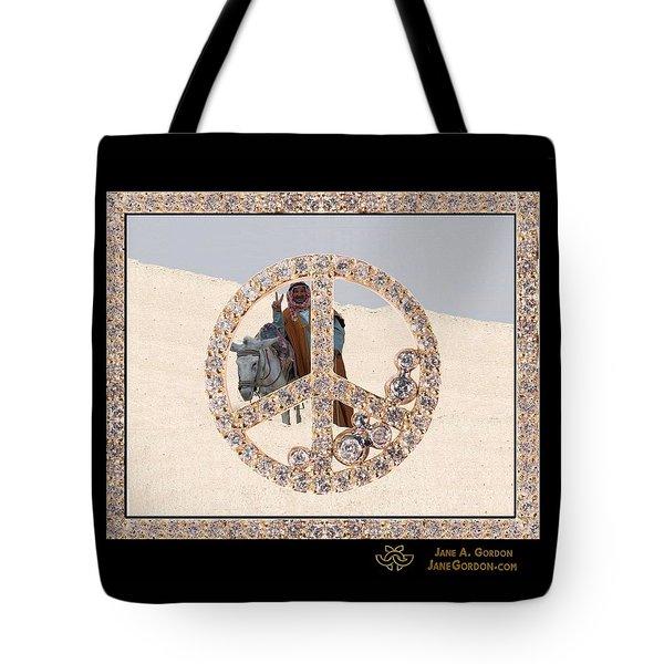 Peace Inside Peace In Diamonds Tote Bag