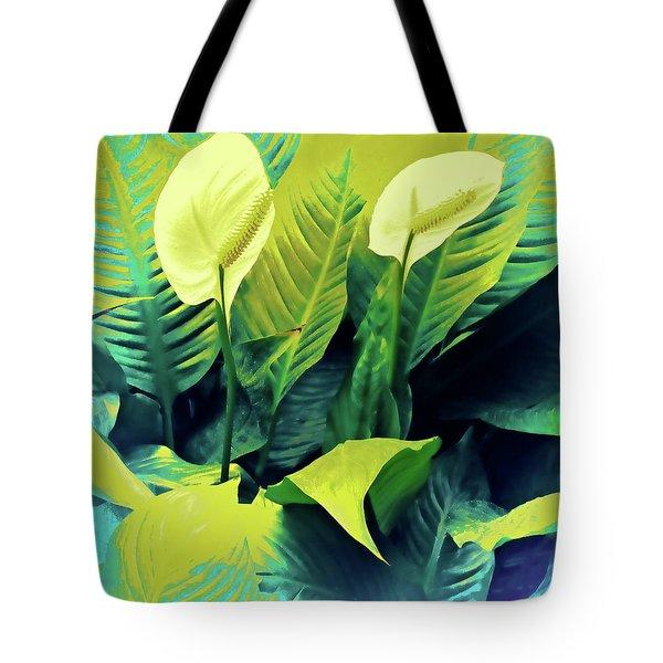 Peace Lilies Tote Bag