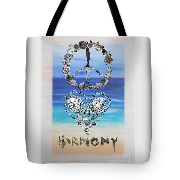 Peace Love Harmony Tote Bag