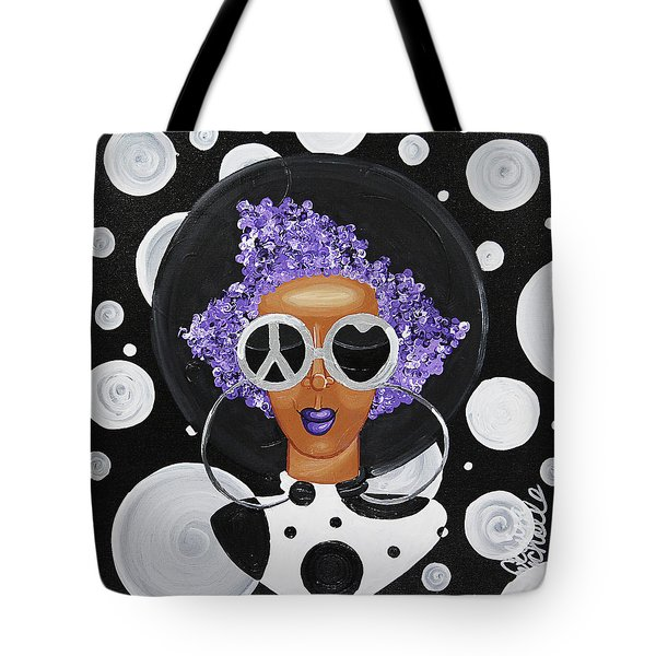 Peace, Love, Polka Dots Tote Bag