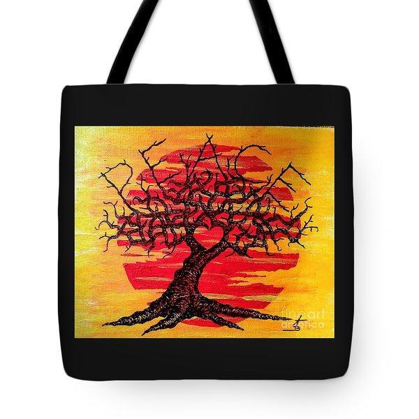 Peace Love Tree Tote Bag