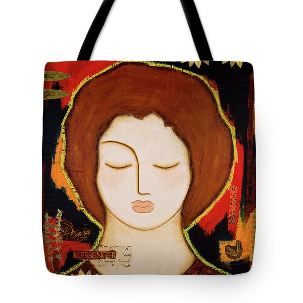 Tote Bag featuring the painting Peace Messenger by Gloria Rothrock