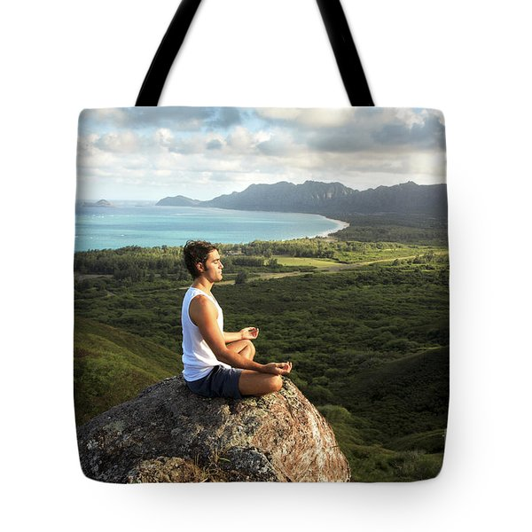 Peace On A Hillside Tote Bag by Brandon Tabiolo - Printscapes