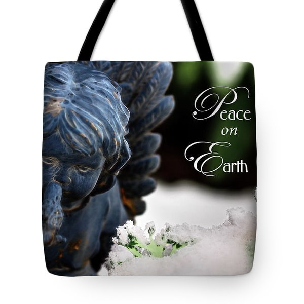 Tote Bag featuring the photograph Peace On Earth Angel by Shelley Neff