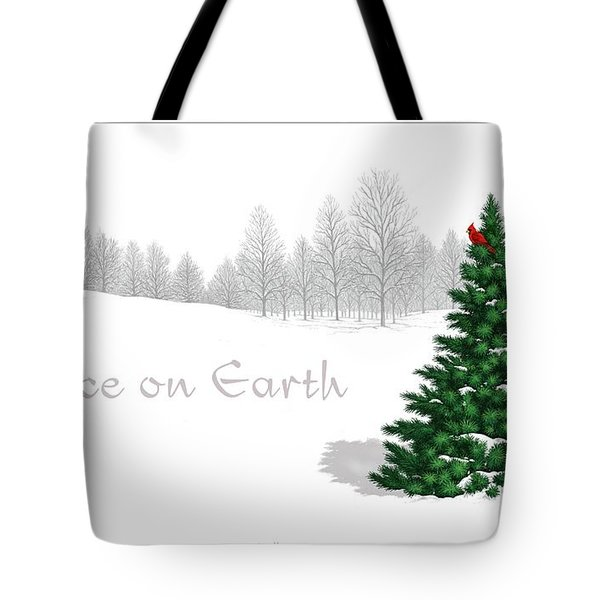 Peace On Earth Tote Bag by Scott Ross