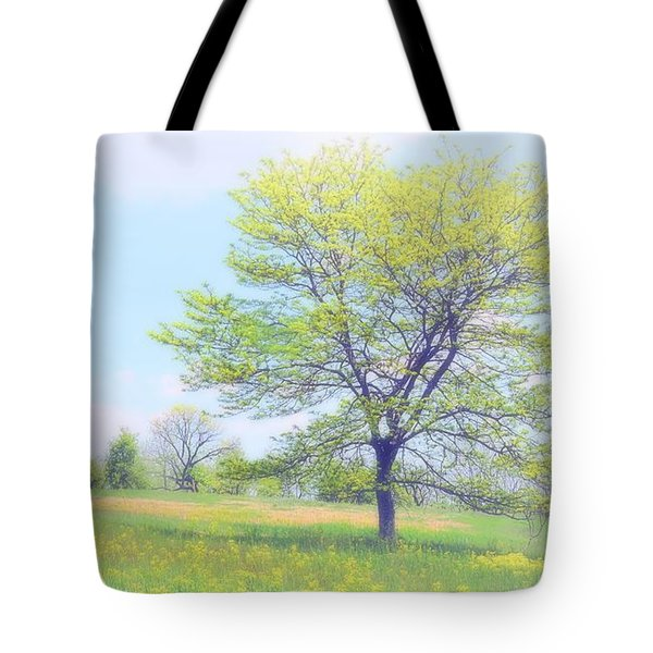 Peace On The Hillside Tote Bag