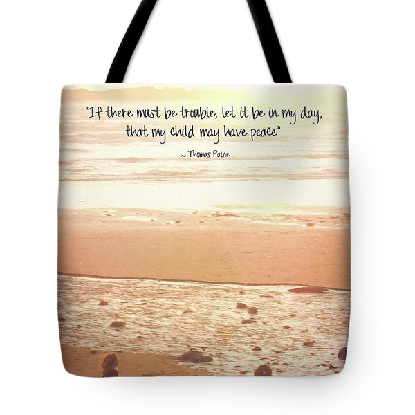 Tote Bag featuring the photograph Peace by Peggy Hughes