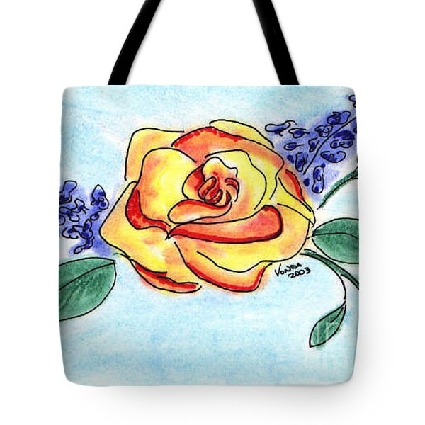 Peace Rose Tote Bag by Vonda Lawson-Rosa