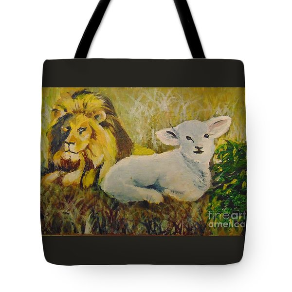 Tote Bag featuring the painting Peace by Saundra Johnson