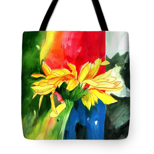 Peace Square Tote Bag by Anil Nene
