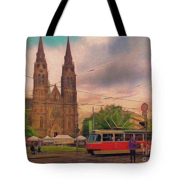 Peace Square Prague Tote Bag
