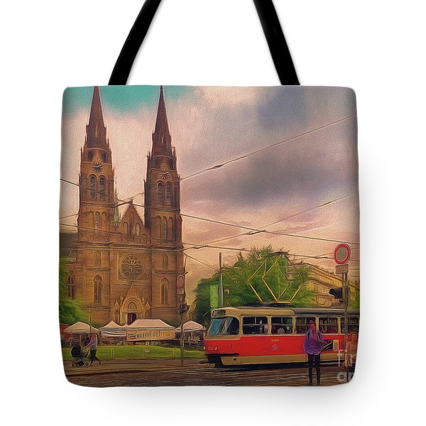Peace Square Prague Tote Bag