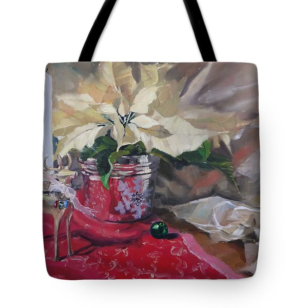 Tote Bag featuring the painting Peace To All Three by Laura Lee Zanghetti
