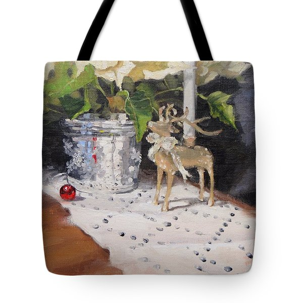 Tote Bag featuring the painting Peace To All Two by Laura Lee Zanghetti