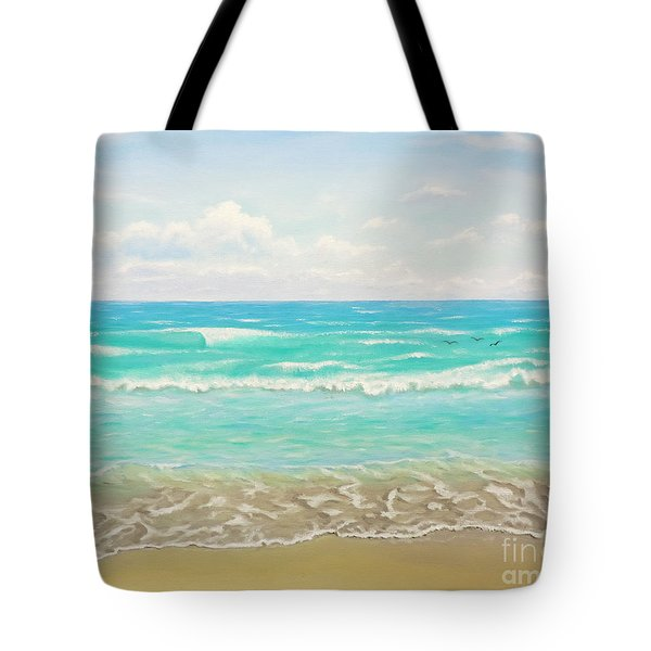 Peaceful Beach Tote Bag by Jimmie Bartlett