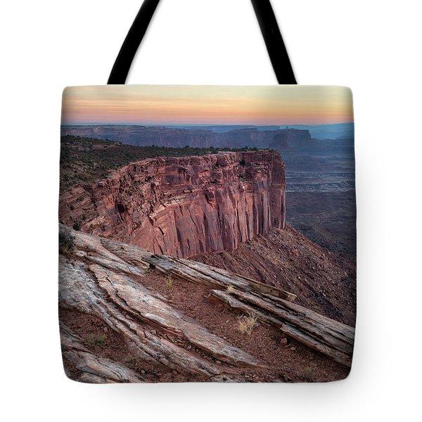 Peaceful Canyon Morning Tote Bag