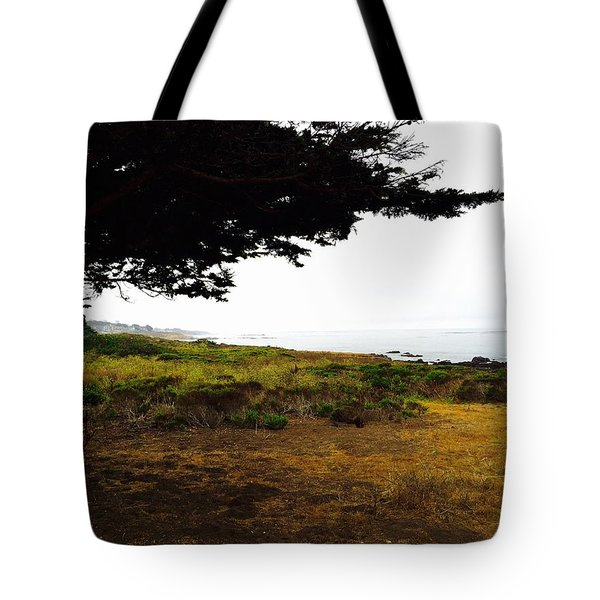 Peaceful Coast Tote Bag by Russell Keating