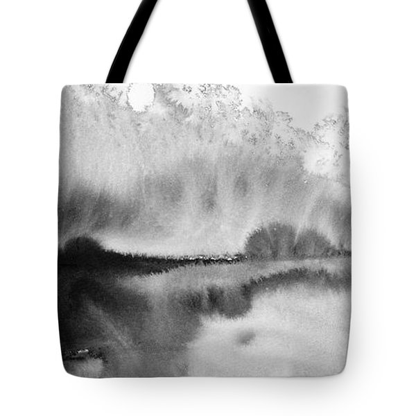 Peaceful Evening - Abstract Ink Rural Landscape Art Tote Bag