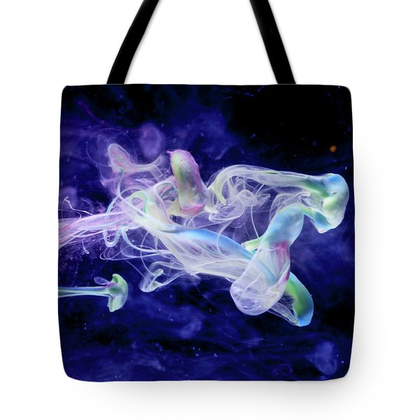 Peaceful Flow - Fine Art Photography - Paint Pouring Tote Bag by Modern Art Prints