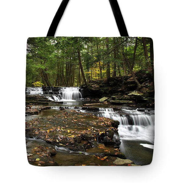 Peaceful Flowing Falls Tote Bag