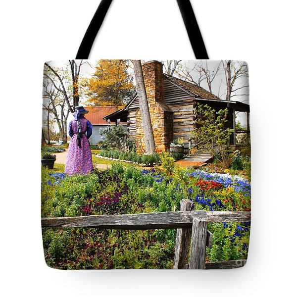 Tote Bag featuring the photograph Peaceful Garden Walk by Donna Dixon