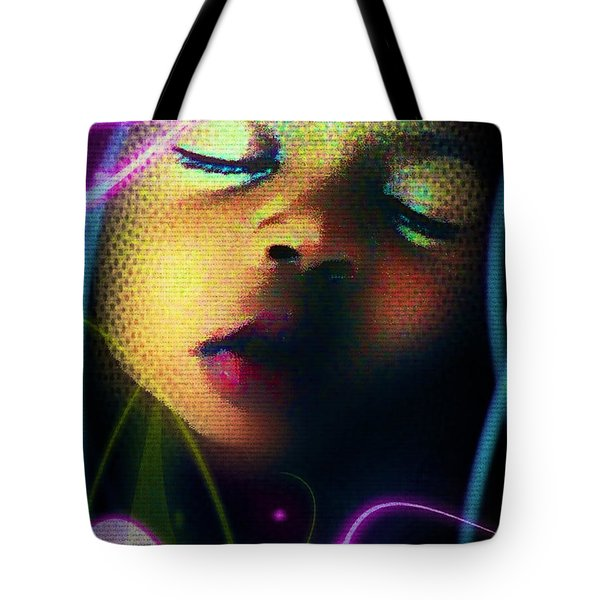Peaceful Tote Bag by Iowan Stone-Flowers
