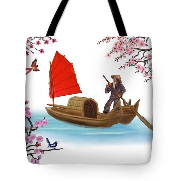 Peaceful Journey Tote Bag by Glenn Holbrook