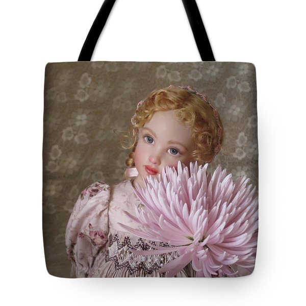 Tote Bag featuring the photograph Peaceful Kish Doll by Nancy Lee Moran