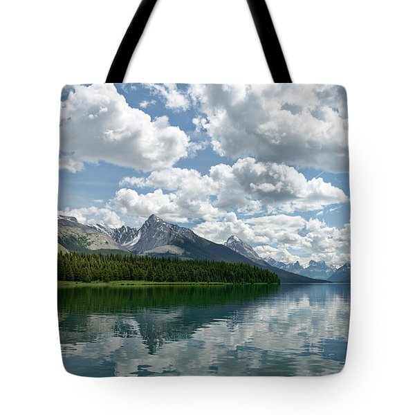 Peaceful Maligne Lake Tote Bag by Sebastien Coursol