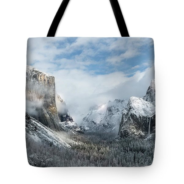 Tote Bag featuring the photograph Peaceful Moments - Yosemite Valley by Sandra Bronstein